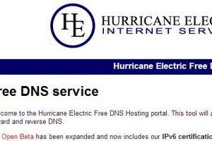 如何在域名服务器dns.he.net上设置你的域名